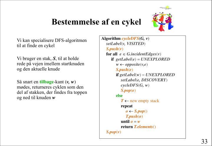 Bestemmelse af en cykel
