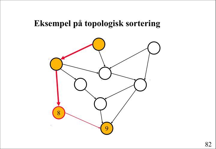 Eksempel på topologisk sortering