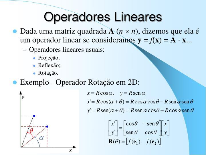 Operadores Lineares