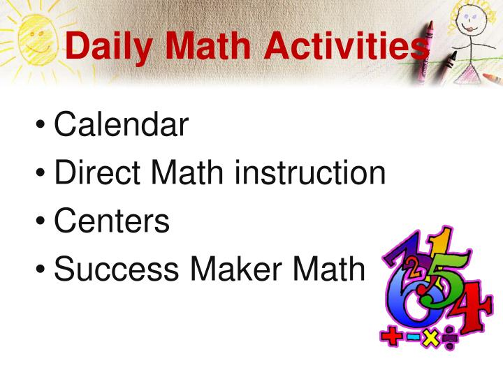 Daily Math Activities
