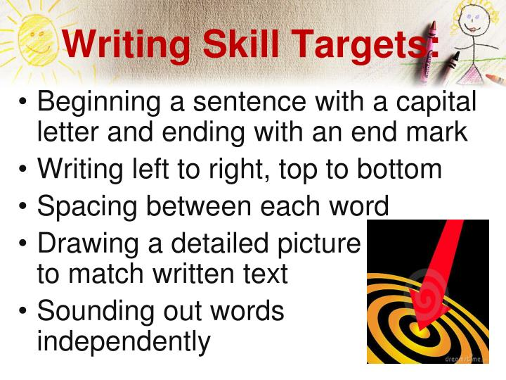 Writing Skill Targets: