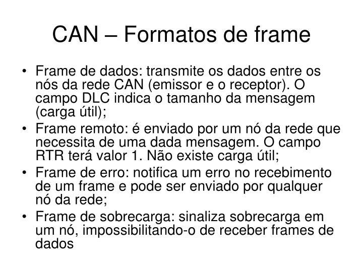 CAN – Formatos de frame