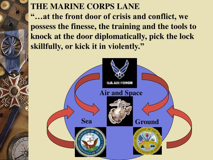 THE MARINE CORPS LANE