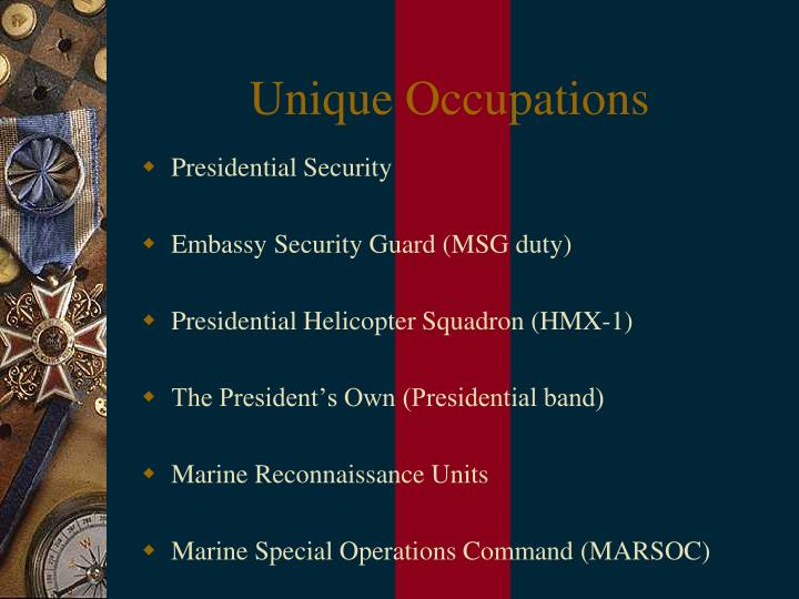 Unique Occupations