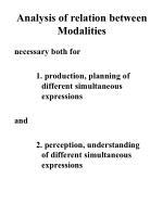 analysis of relation between modalities