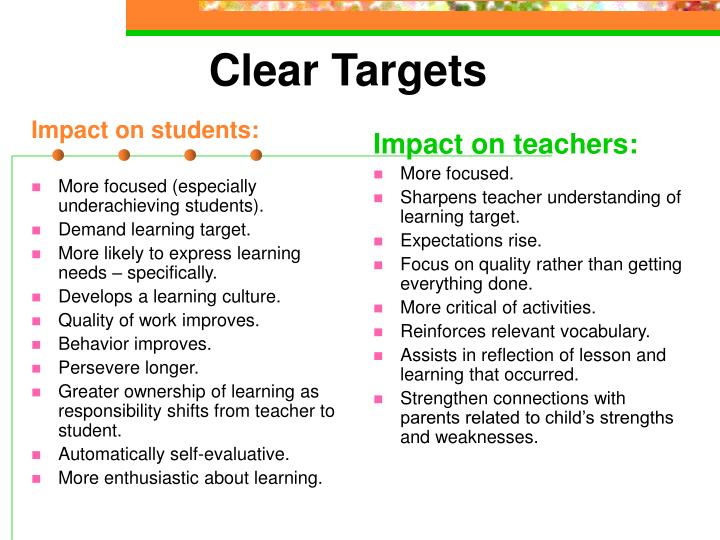 Impact on students: