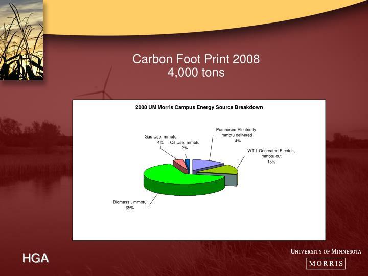 Carbon Foot Print 2008