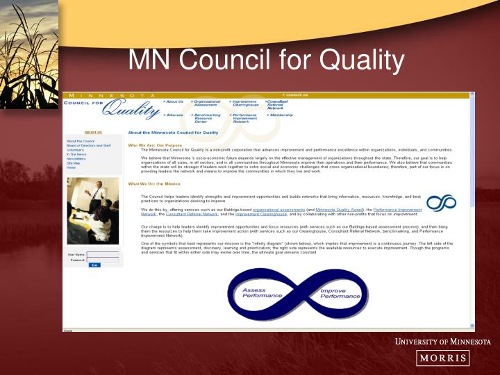 Mn council for quality