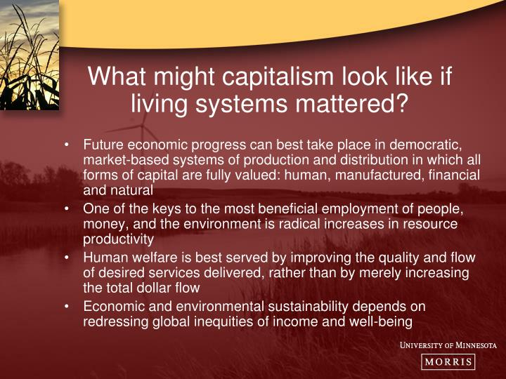 What might capitalism look like if living systems mattered?