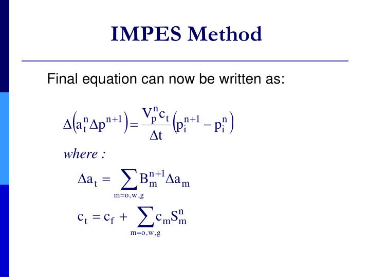 IMPES Method