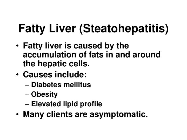 Fatty Liver (Steatohepatitis)
