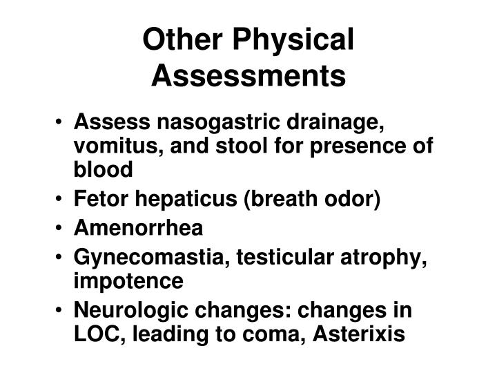 Other Physical Assessments
