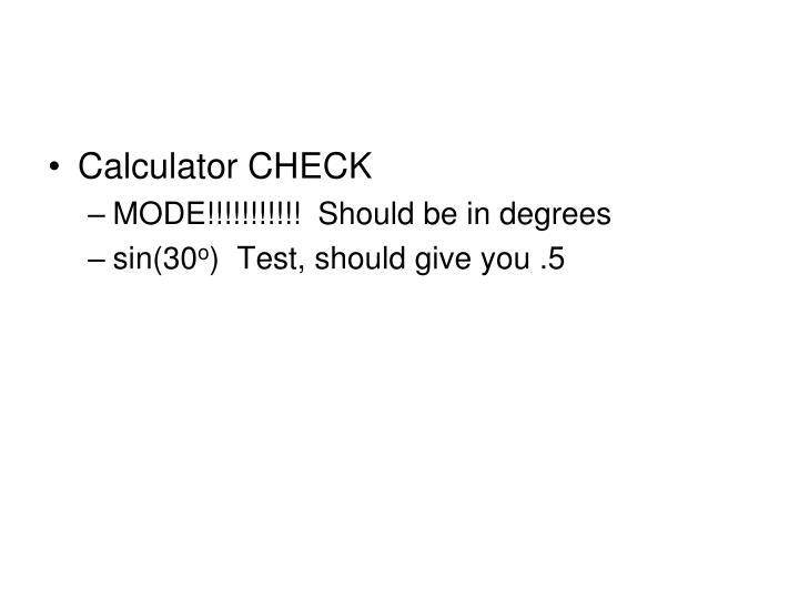 Calculator CHECK