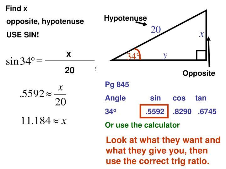 Hypotenuse
