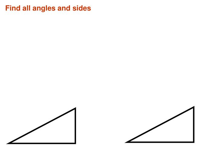 Find all angles and sides