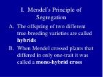 i mendel s principle of segregation