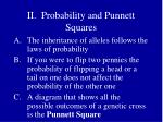 ii probability and punnett squares