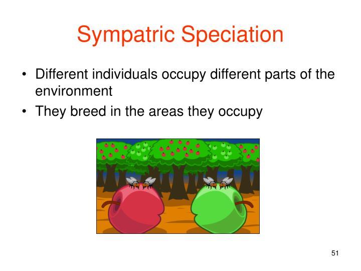 Sympatric Speciation