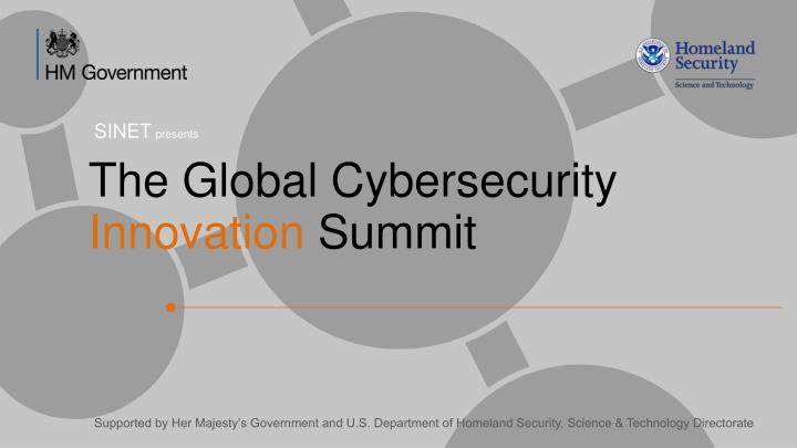 the global cybersecurity innovation summit