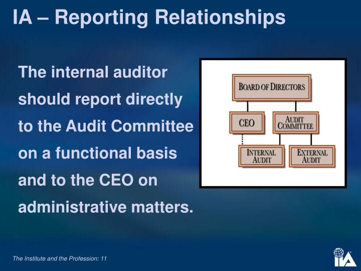IA – Reporting Relationships