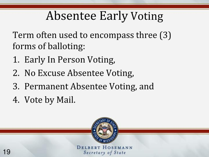 Absentee Early