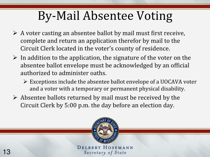 By-Mail Absentee Voting