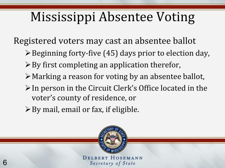 Mississippi Absentee Voting