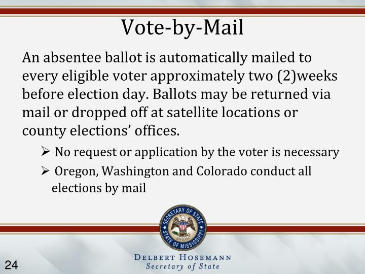 Vote-by-Mail