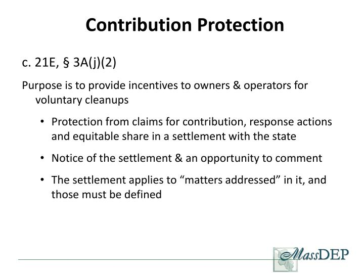 Contribution Protection