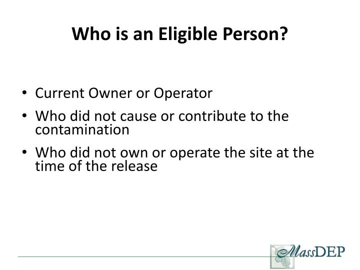 Who is an Eligible Person?