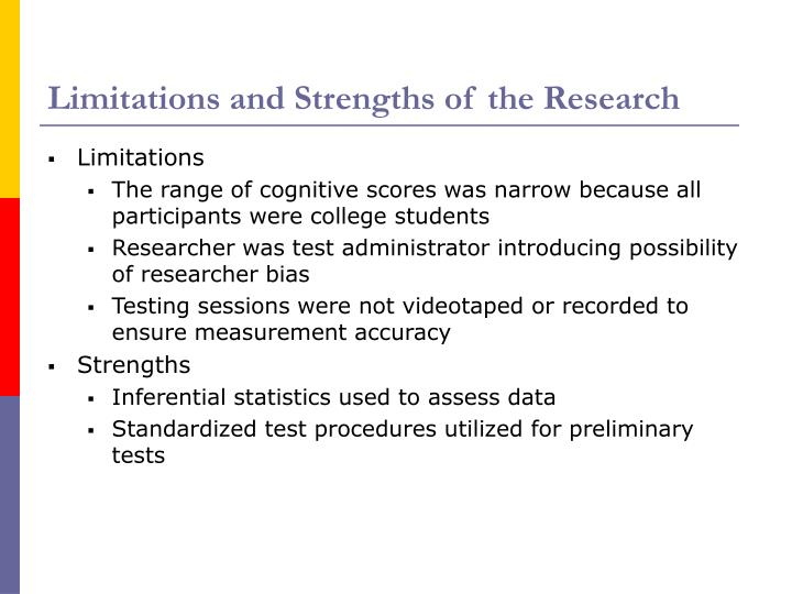 Limitations and Strengths of the Research