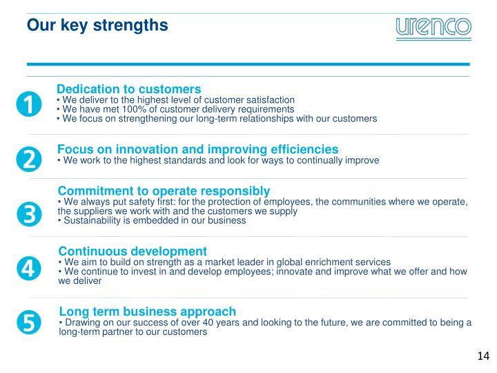Our key strengths
