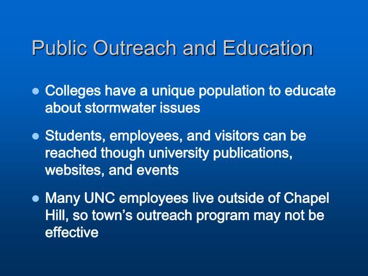 Public Outreach and Education