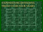 expenditure estimates trend over four years