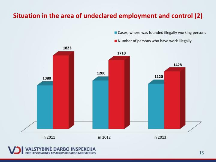 Situation in the area of undeclared employment and