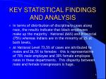 key statistical findings and analysis3