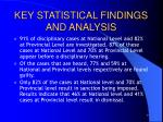 key statistical findings and analysis4