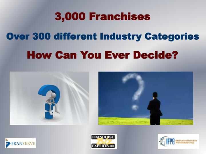 3,000 Franchises