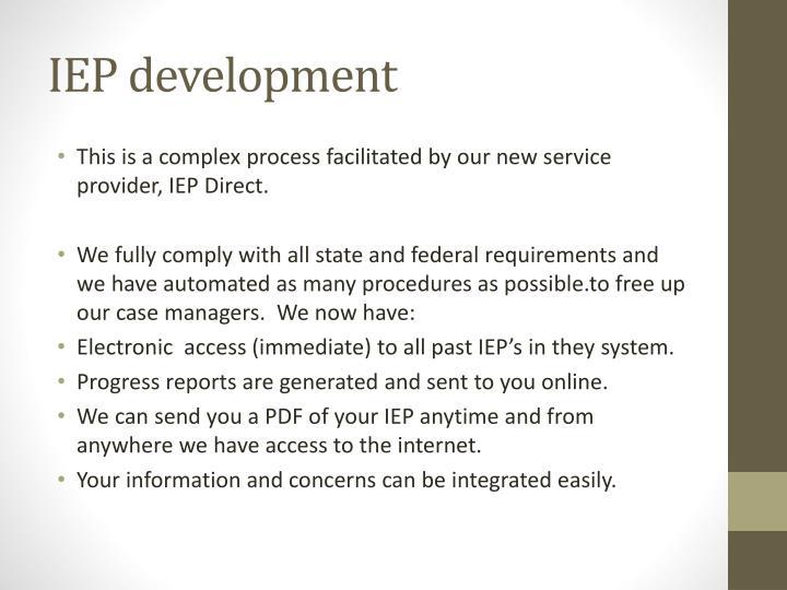 IEP development