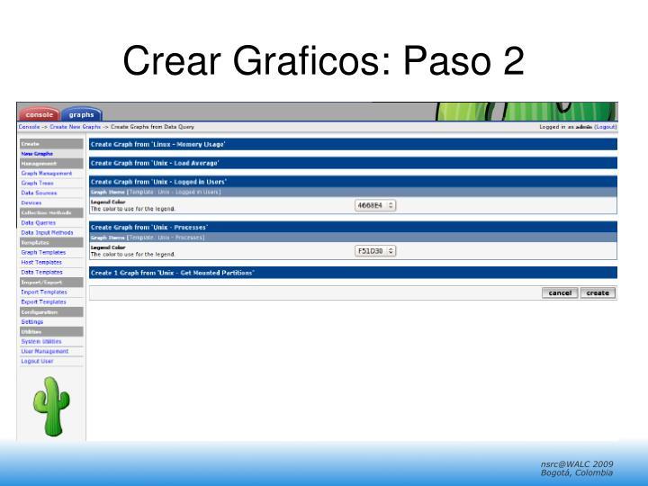 Crear Graficos: Paso 2