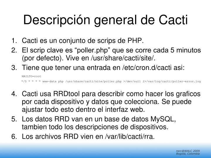Descripción general de Cacti