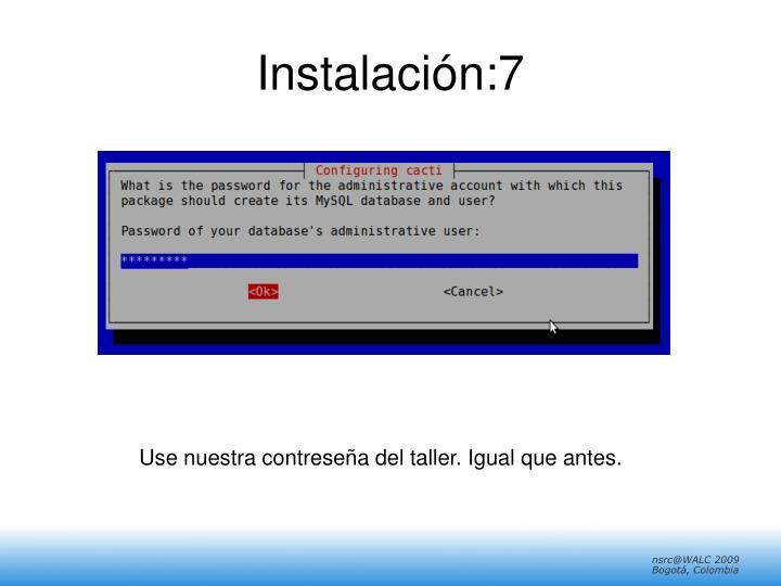 Instalación:7