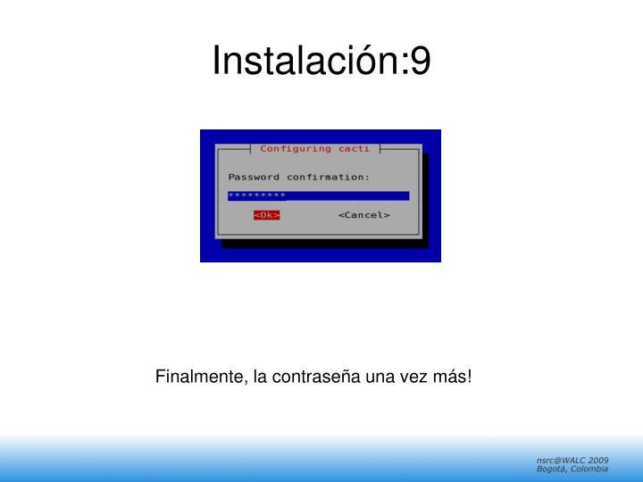 Instalación:9