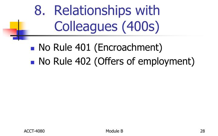 8.  Relationships with