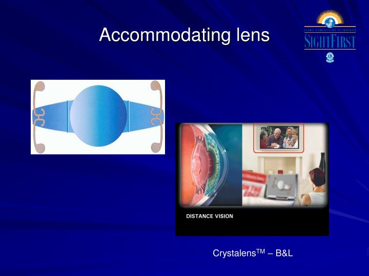 Accommodating lens
