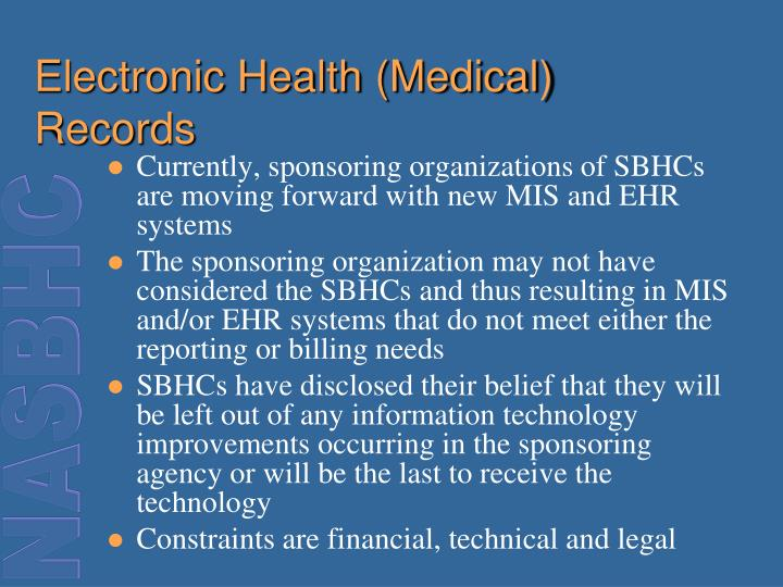 Electronic Health (Medical) Records