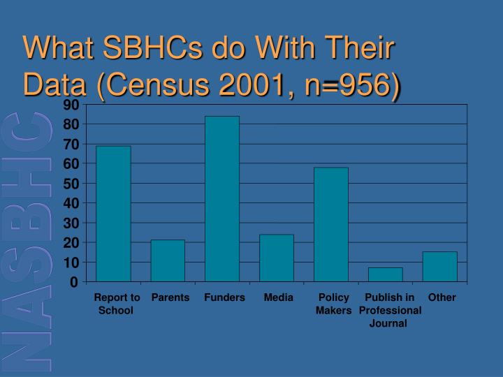 What SBHCs do With Their Data (Census 2001, n=956)