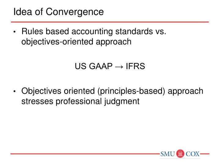 Idea of Convergence