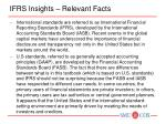 ifrs insights relevant facts