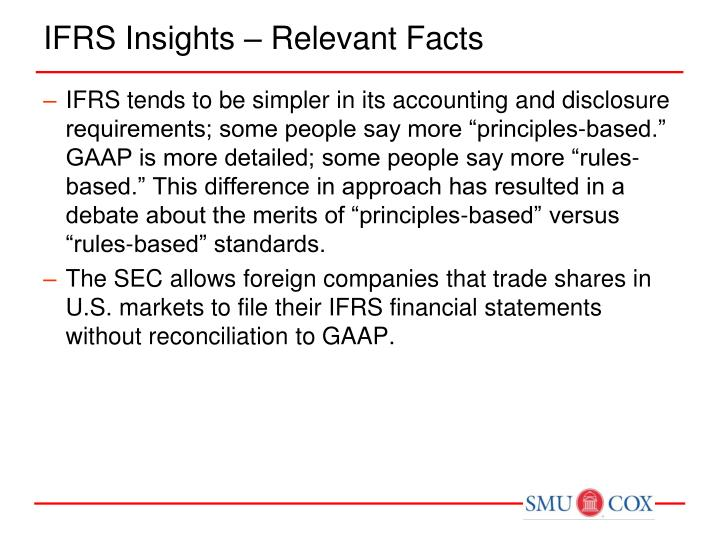 IFRS Insights – Relevant Facts